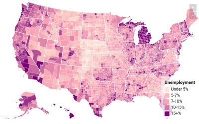 Unemployment Rates by County: Interactive Map